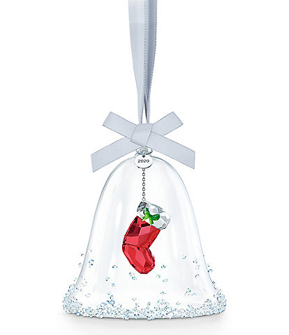 Swarovski Crystal 2020 Exclusive Bell with Stocking Ornament