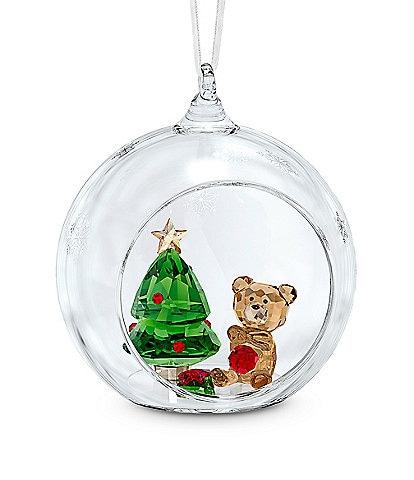 Swarovski Crystal Ball Christmas Scene Ornament