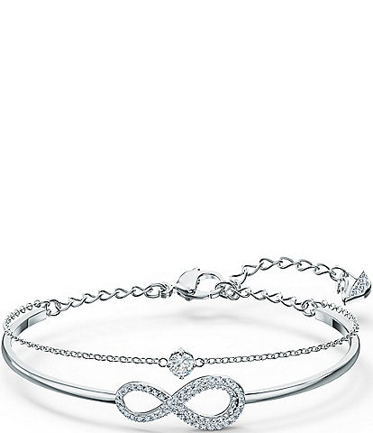 Swarovski Crystal Infinity Bangle Bracelet