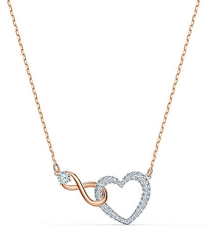 Swarovski Crystal Infinity Heart Necklace