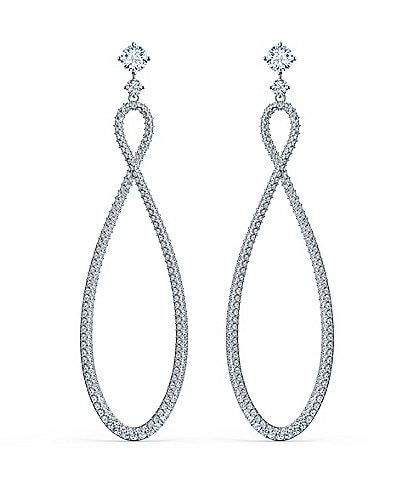 Swarovski Crystal Infinity Hoop Pierced Earrings