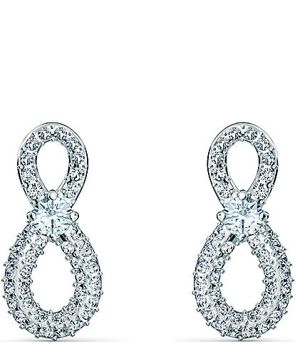 Swarovski Crystal Infinity Mini Pierced Stud Earrings