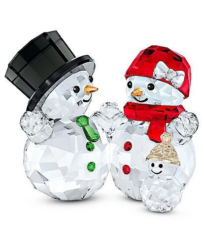 Swarovski Crystal Snowman Family Figurine
