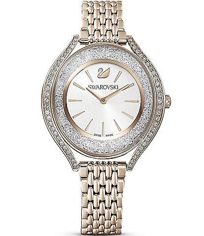 Swarovski Crystalline Aura Champagne Gold Bracelet Watch