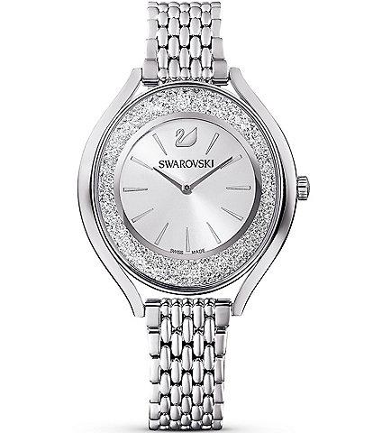 Swarovski Crystalline Aura Silver Tone Bracelet Watch
