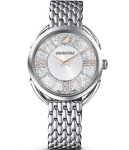 Swarovski Crystalline Glam Silver Tone Bracelet Watch