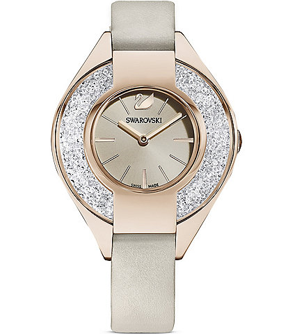 Swarovski Crystalline Sporty Leather Watch