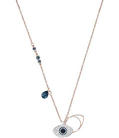Swarovski Duo Evil Eye Pendant Necklace