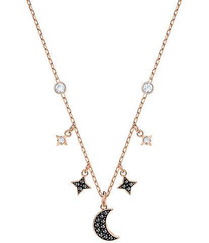Swarovski Duo Moon Necklace