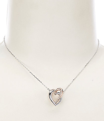 Swarovski Infinity Double Heart Necklace