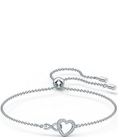 Swarovski Infinity Heart Adjustable Bracelet
