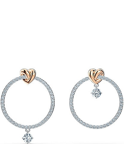 Swarovski Lifelong Heart Hoop Pierced Earrings