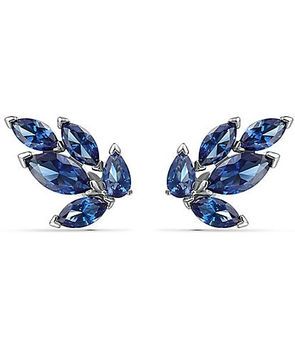 Swarovski Louison Blue Stud Pieced Earrings