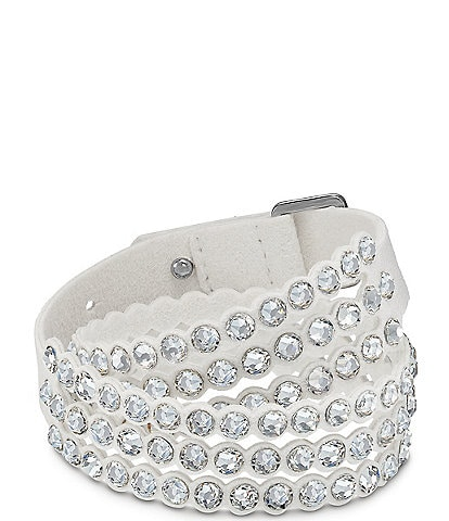 Swarovski Power Collection Leather & Crystal Layered Bracelet