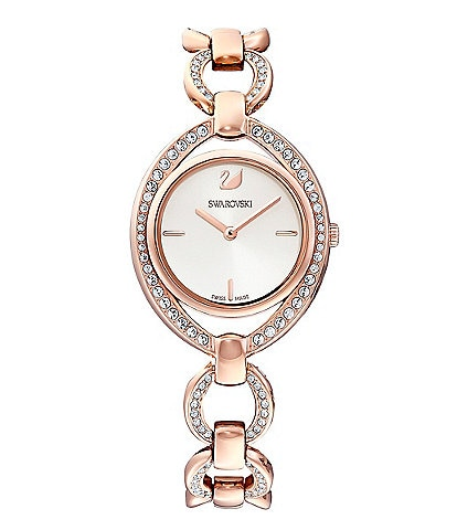 Swarovski Stella Rose Gold Swiss Quartz Analog Bracelet Watch