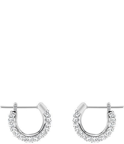 Swarovski Stone Small Pierced Hoop Earrings
