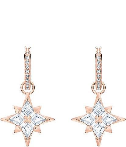 Swarovski Symbolic Collection Star Hoop Pierced Earrings
