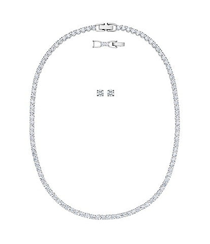 Swarovski Tennis Deluxe Collection Necklace and Earring Set
