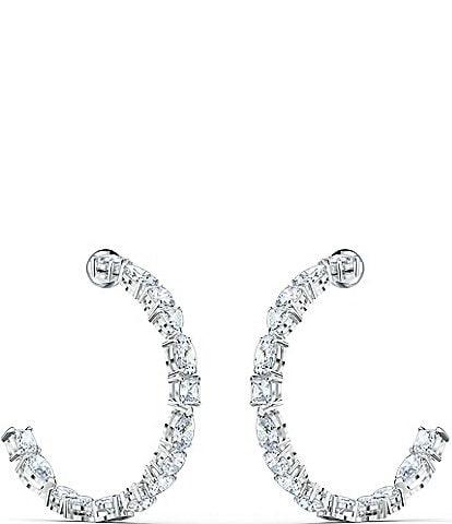 Swarovski Tennis Deluxe Mixed Hoop Pierced Earrings