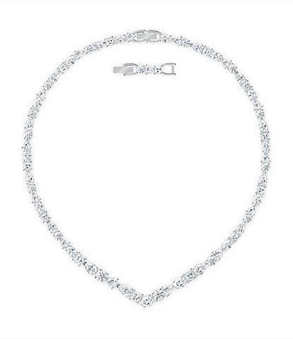 Swarovski Tennis Deluxe Mixed V Necklace