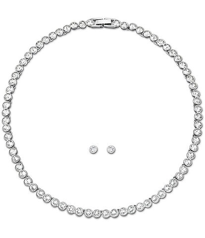 Swarovski Tennis Necklace and Earrings Set
