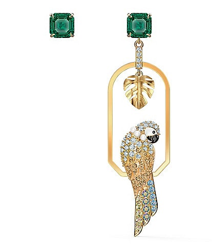 Swarovski Tropical Parrot Pierced Earrings