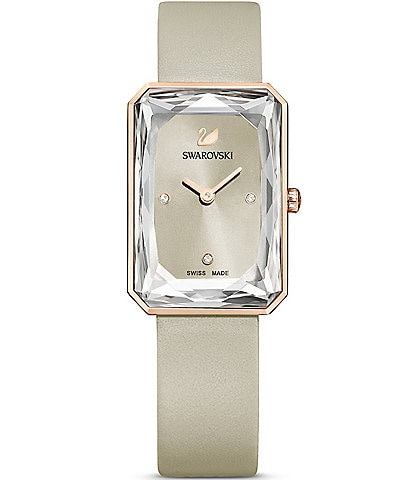 Swarovski Uptown Grey Leather Watch