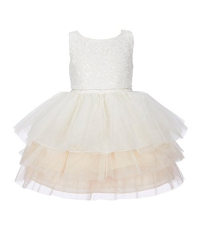 Sweet Kids Little Girls 2-6 Lace Bodice/Tiered Tutu Fit-And-Flare Dress
