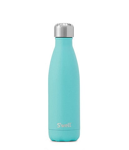 Swell Satin Collection Turquoise Blue Stainless Steel Insulated Bottle