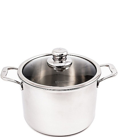Swiss Diamond Premium Clad 8-Quart Stainless Steel Covered Stock Pot