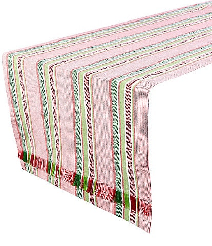 Tag Holiday Fringe Stripe 72#double; Runner