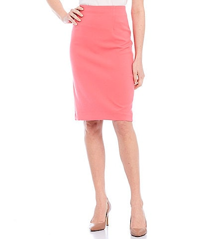 Tahari ASL Double Weave Fitted Pencil Skirt
