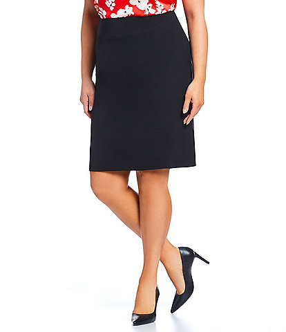 Tahari ASL Plus Size Solid Pencil Skirt