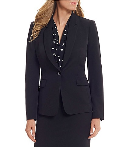 Tahari ASL Single Button Flap Pocket Jacket