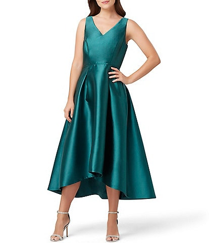 Tahari ASL Sleeveless Mikado Fit & Flare Midi Dress