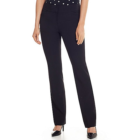 Tahari ASL Bi-Stretch Straight Leg Pants