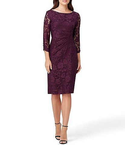 Tahari ASL Stretch Lace Sheath Dress
