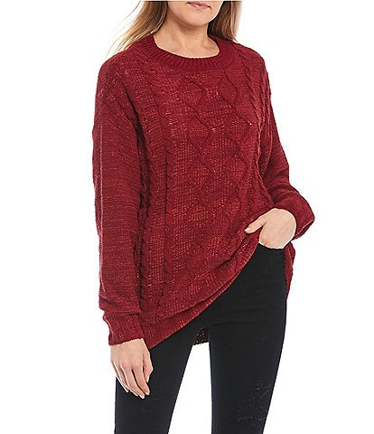 Takara Cable Knit Tunic Sweater