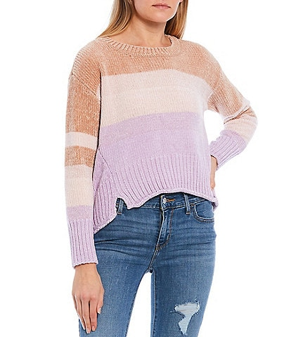 Takara Chenille Color Block Sweater