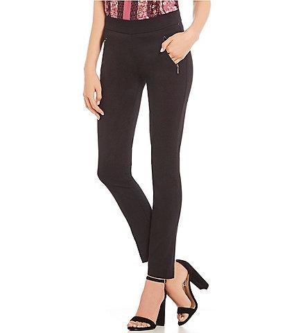 Takara Front Zippered Pocket Pull-On Pants