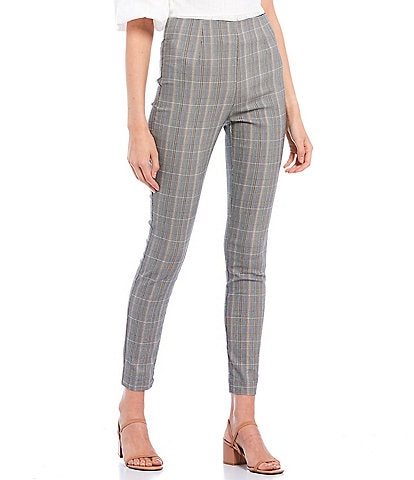 Takara High Rise Menswear Plaid Pull-On Pants
