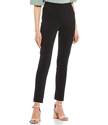Takara High-Waisted Flat-Front Pull-On Skinny Pants