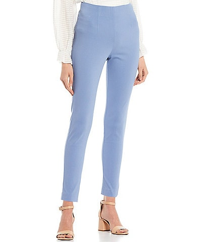 Takara High-Waisted Flat-Front Pull-On Skinny Pants