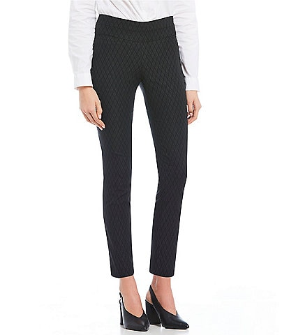 Takara Pull On Jacquard Dress Pants