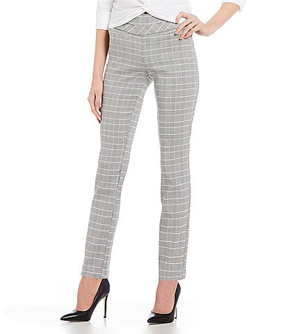 Takara Pull On Windowpane Dress Pants