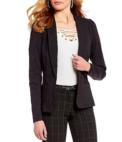 Takara Shirred-Shoulder Suit Blazer