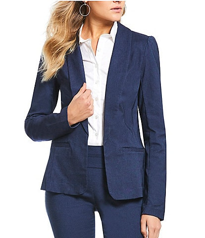 Takara Shirred-Shoulder Suit Jacket
