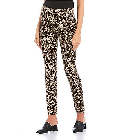 Takara Menswear Inspired Zip Pocket Animal Print Pants