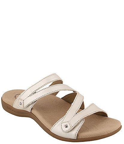 Taos Footwear Double U Leather Slide Sandals