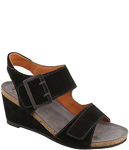 Taos Footwear High Society Suede Wedge Sandals